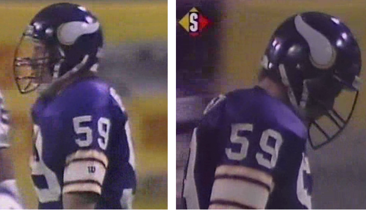 b40646cc41fb18 ... really the protocol at that time?), and Herschel Walker didn't have it  at all. And (2) Not often you see an NFL player with an acute accent on his  NOB!