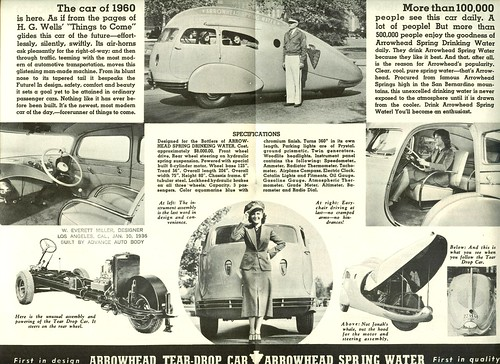 1936 Arrowhead Tear-Drop Car Details