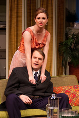 Meg Chambers Steedle (Corie) and John Wernke (Paul) (TwoRiverTheater) Tags: theater redbank trtc neilsimon barefootinthepark tworivertheaterco
