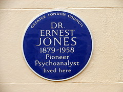 Photo of Ernest Jones blue plaque