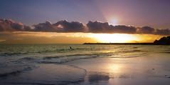 Sunset (HappyManPhotoGraphy) Tags: ocean sunset mer beach sunrise long turquoise violet sable ile expose terre sublime nuage plage beau reve guadeloupe repos gwada basse jete caraibe doux gosier