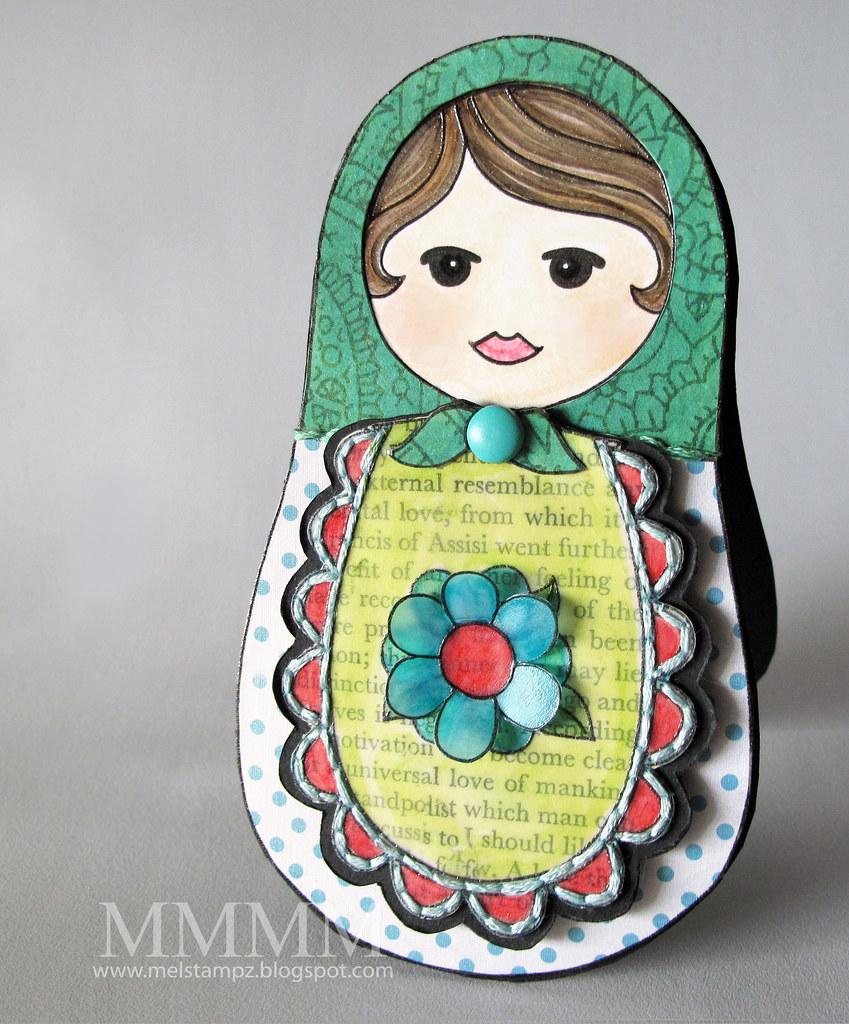 Squigglefly Babushka Matrushka Momma melstampz