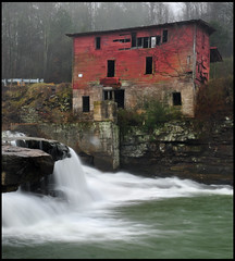 Red Mill Morning (remy fauxtog) Tags: red mill water waterfall alabama remy albertville fauxtog