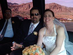 Andy and Miranda in the Limo