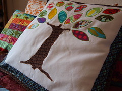 50th anniversary present / our family tree (joontoons) Tags: tree leaves handmade sewing pillow quilting familytree scraps patchwork applique cushion amybutler michaelmiller alexanderhenry denyseschmidt heatherbailey anniversarypresent annamariahorner valoriwells sandihenderson pattyyoung paulaprass joontoons