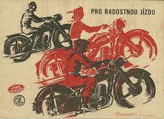 Jawa and CZ motorcycle brochure, 1953