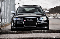 Audi RS6 (Bart Willemstein) Tags: auto white snow black cars tourism car sedan nose switzerland nikon estate geneva plate automotive front international license nikkor audi 80th genve avant motorshow c6 dealer rs6 gstaad frontshot bartw d300s autogespot autogespotcom bartwillemsteinnl