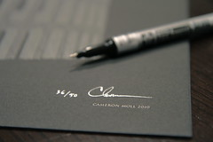 Signed (Cameron Moll) Tags: black metallic signature letterpress