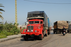 TRUCKING IN LEBANON (Claude  BARUTEL) Tags: road lebanon truck transport eat middle beirut trucking bussing