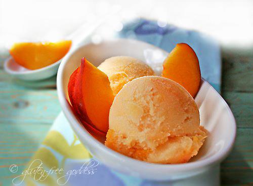 vegan peach ice scream