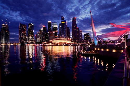 Singapore skyline by Nicolas Lannuzel, on Flickr