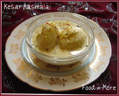 fabulous  kesar rasmalai (the cheats way)