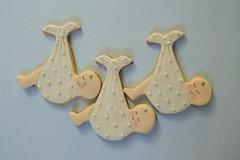 Cute Baby Bundles (Three Honeybees) Tags: cookie teapot teacup cutter polkadot sugarcookie