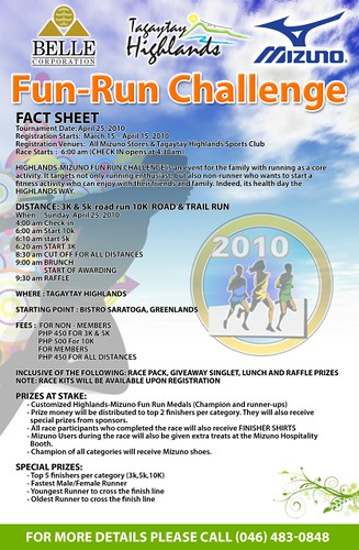 Mizuno - Highlands Fun Run Challenge 2010