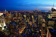 Concrete Jungle (mathotspot) Tags: city nyc longexposure ny newyork building night view manhattan rockefellercenter topoftherock mathotspotphotography