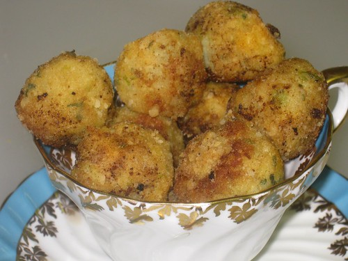 Chaya's potato balls in a cup