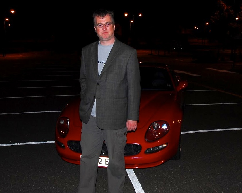 Hugh with Maserati - Version 2
