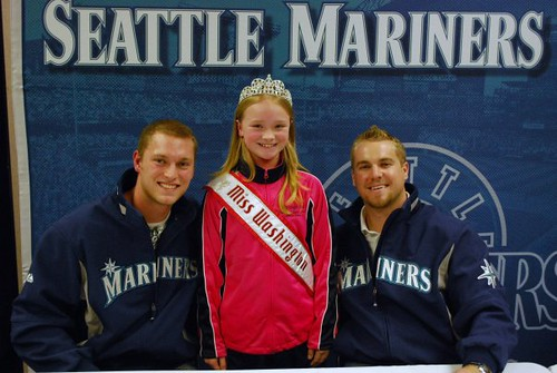 NAM Miss Washington with the Seattle Mariners