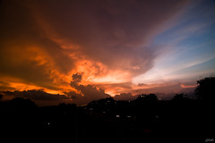 7.30pm sunset (Lohb) Tags: sunset sky canon tokina usj subangjaya 500d 1116mm 730pmsunset