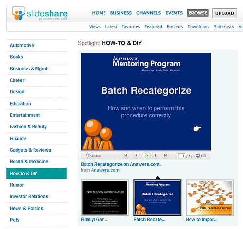 Batch Recat featured on Slideshare!