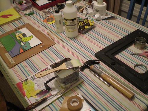 Sealing and framing in progress