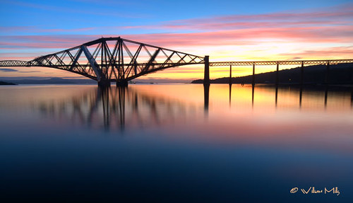 Dawn Rising Over The Forth Bridge