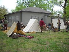Confederate soldier's camp (99kps) Tags: war weekend civil wichita cowtown