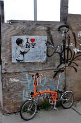 I love NY (damonabnormal) Tags: street nyc newyorkcity streetart newyork pasteup pastedpaper illustration brooklyn paper graffiti nikon wheatpaste may streetphotography urbanart pasted williamsburg let flyposting brompton iloveny urbanite 2011 d90 18200vr
