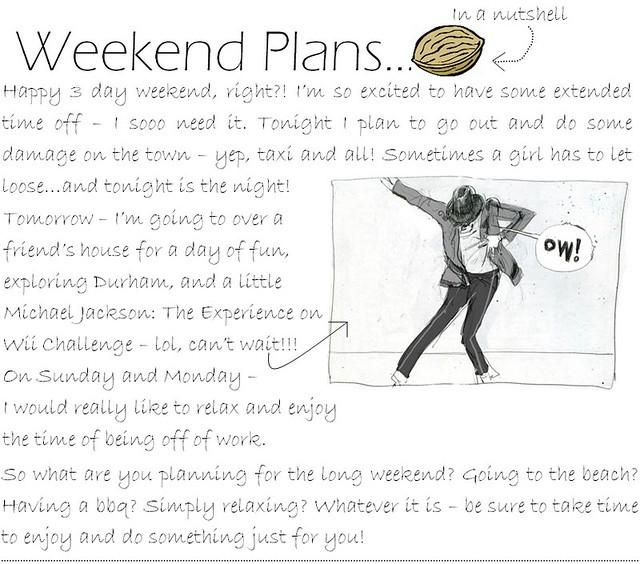 Weekend plans 5.27