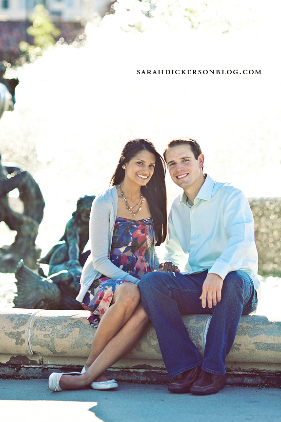 Kansas City Country Club Plaza engagement photography