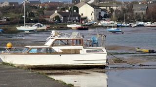 Boats in Walney Channel