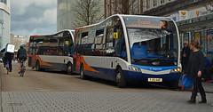 Optare Solo SR (X2) (Travis Pictures) Tags: bus buses exeter devon city citycentre transport publictransport stagecoach stagecoachsouthwest nikon d5200 photoshop citi exciti