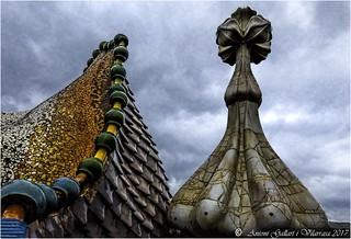 Terrat de la Casa Batlló d'Antoni Gaudí ( Barcelona - Catalunya)