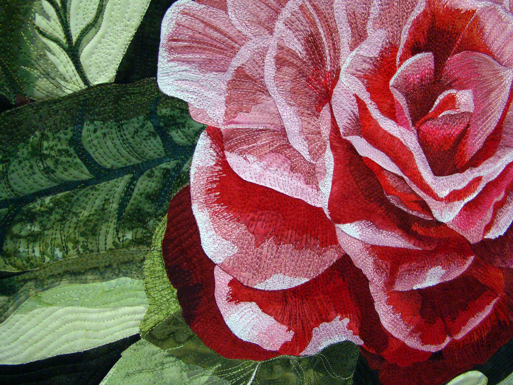DSC02778 Quilt 3005 Camellias in my Garden by Janis Arredondo