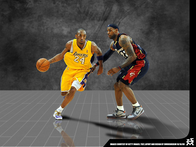 Bryant vs James. Kobe Bryant/LeBron James Desktop Wallpaper 1024 x 768