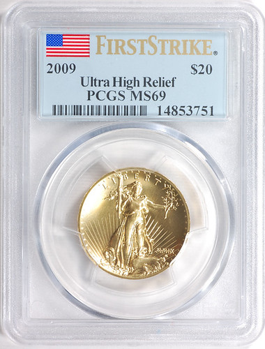 2009 $20 Ultra High Relief - MS69