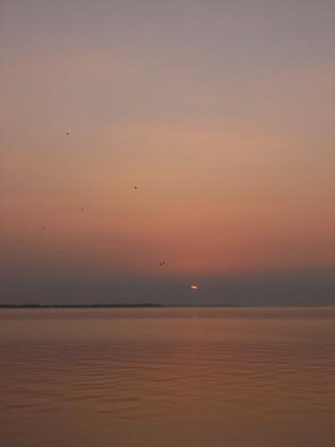 琵琶湖の夕焼け-10