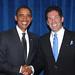 Larry Korman, Partner, AKA Hotel Residences, with President Barack Obama