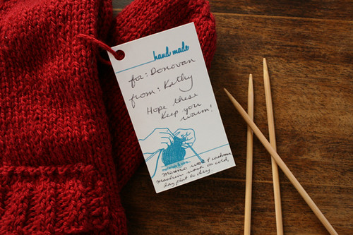 Donovan's Mittens, gift tag