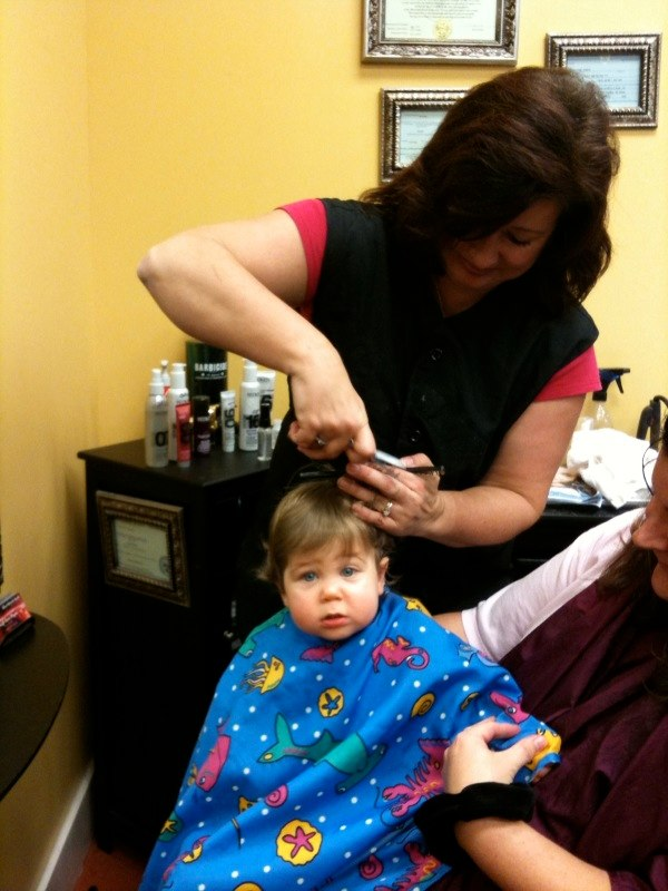 Adam first haircut