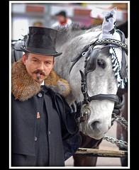 Switzerland; Basel's Carnival, 2009 March4, 15:50. A man and a horse. (Izakigur) Tags: schweiz switzerland nikon europa europe flickr suisse suiza swiss feel basel d200 helvetia nikkor svizzera bale lepetitprince ch dieschweiz musictomyeyes  105mm baslerfasnacht basilea ble nikon105mm myswitzerland lasuisse nikond200 nikon105 nikkor105 nikon105mmvr nikkor105mmf28vr 105mmf28vr 105f28 artistsoftheyear nikkor10528vr nikon105mmf28gvrmicro nikon10528vr thebestofday gnneniyisi izakigur nikon105mmf28micro baslerfasnacht2009 laventuresuisse izakigur2009 mygearandmepremium izakigurcarnaval nikonvr10528