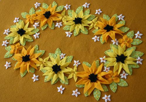 Daisy Felt Embroidery