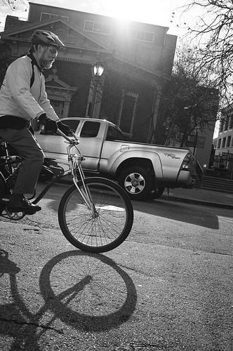 biking in the sun