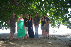 group shot under the trees (drewdomkus) Tags: costa drew rica puertoviejo caribbean dawnanddrew cocles domkus