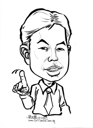Caricature in ink for Leaf -3