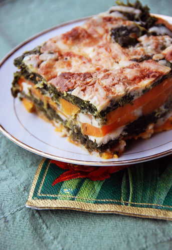 Spinach and Sweet Potato Gratin