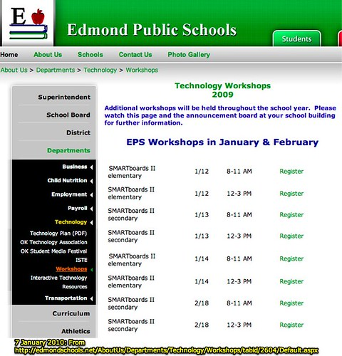 IWB Workshops Anyone? (Edmond Public Schools, Oklahoma)