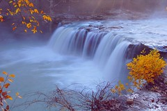 Falling Water Falls (photogg19) Tags: autumn mist fall creek river nikon arkansas ozark richlandcreek benhur coth d40 fallingwatercreek platinumphoto fallingwaterfalls elitephotography ubej