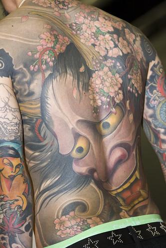 Devil Face Tattoo At Hinder