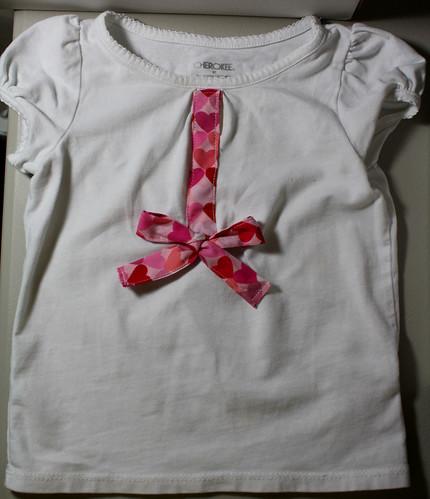 Gooey Hearts Day Shirt Refashion Tutorial
